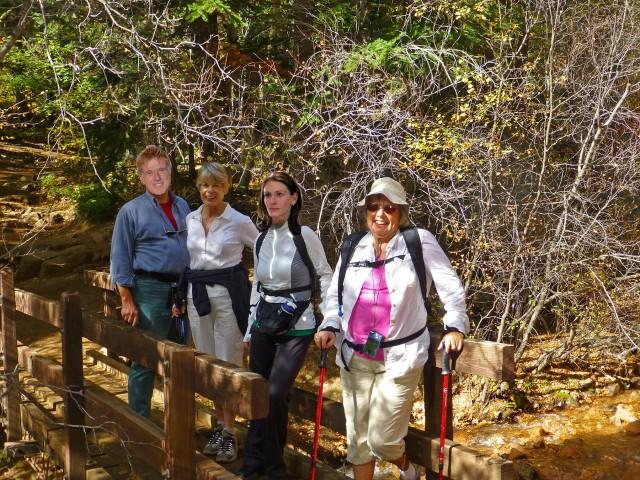 Hikers at Bridge