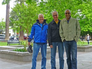 Healdsburg Square with Val and Tripp
